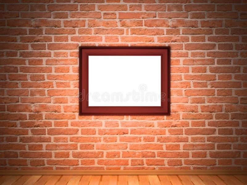 cegły ramy ściana obrazy stock