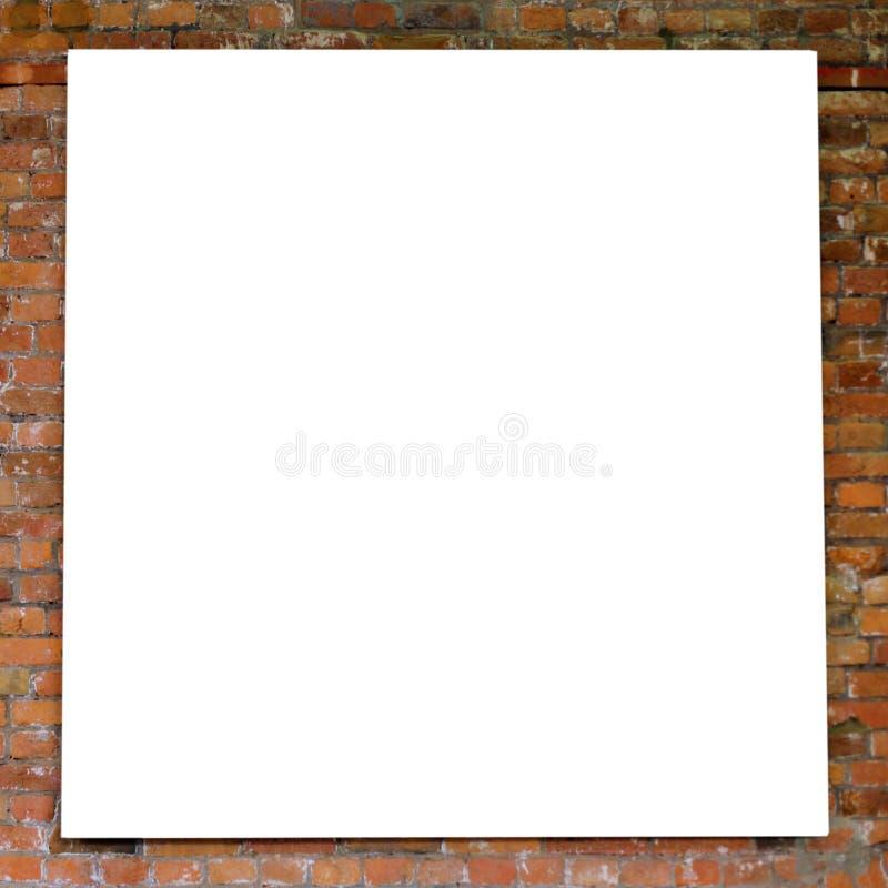 cegły ramy ściany biel obraz stock