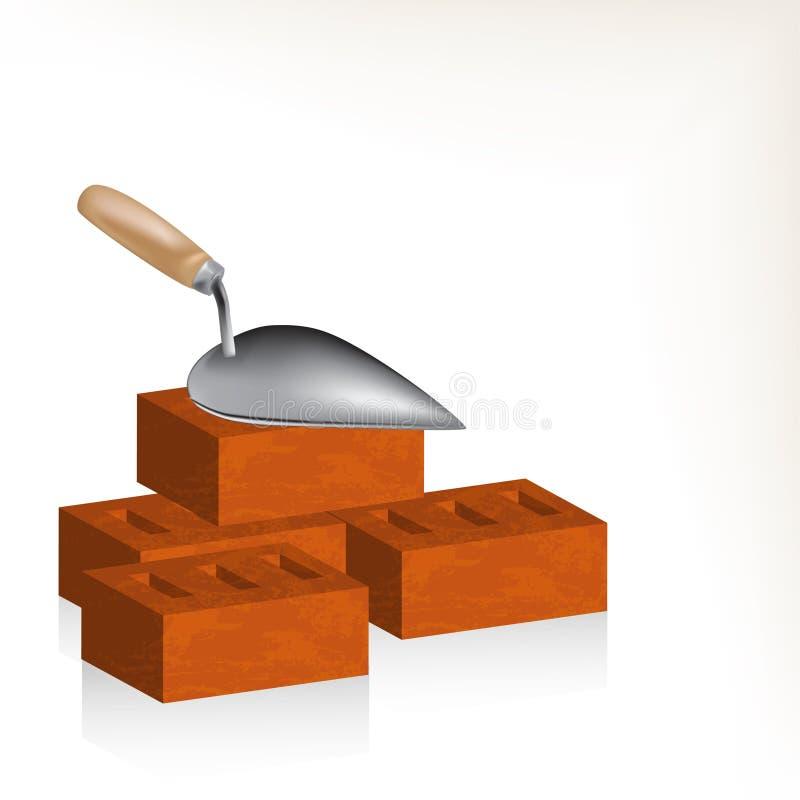Download Cegła i kielnia ilustracji. Obraz złożonej z brickwork - 30689869
