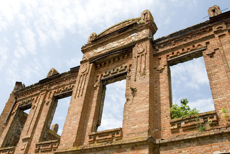 Cegieł ruiny zdjęcie stock