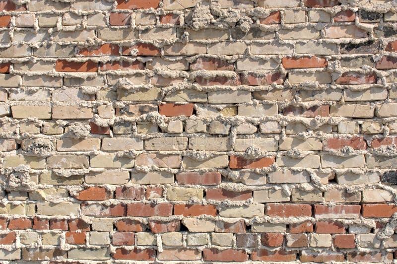 ceglana ściana moździerzowa stara zdjęcia stock