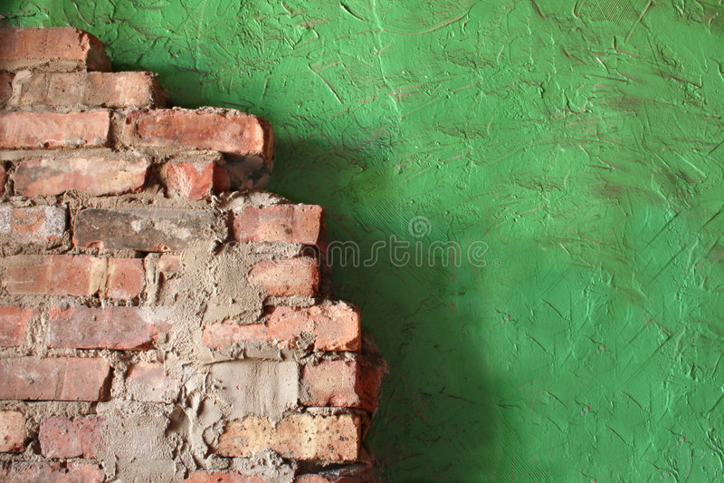 ceglana ściana stiuk obrazy stock