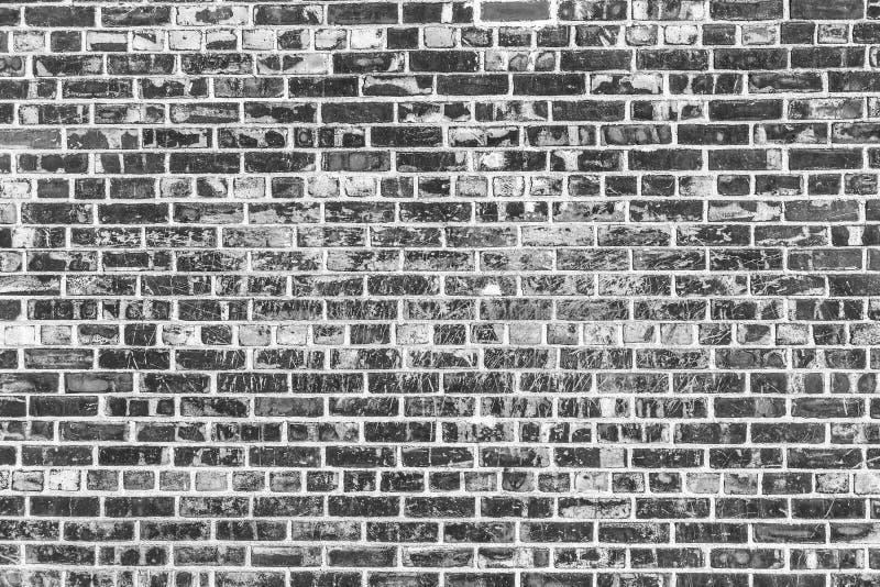 ceglana ściana tła stara Grunge tekstura Czarna tapeta zdjęcia stock