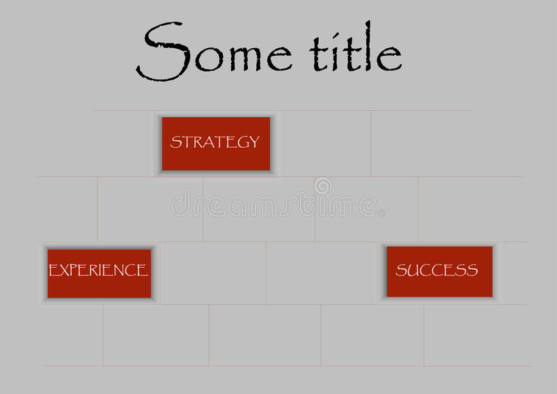 Ceglana biznesowa grafika obraz stock