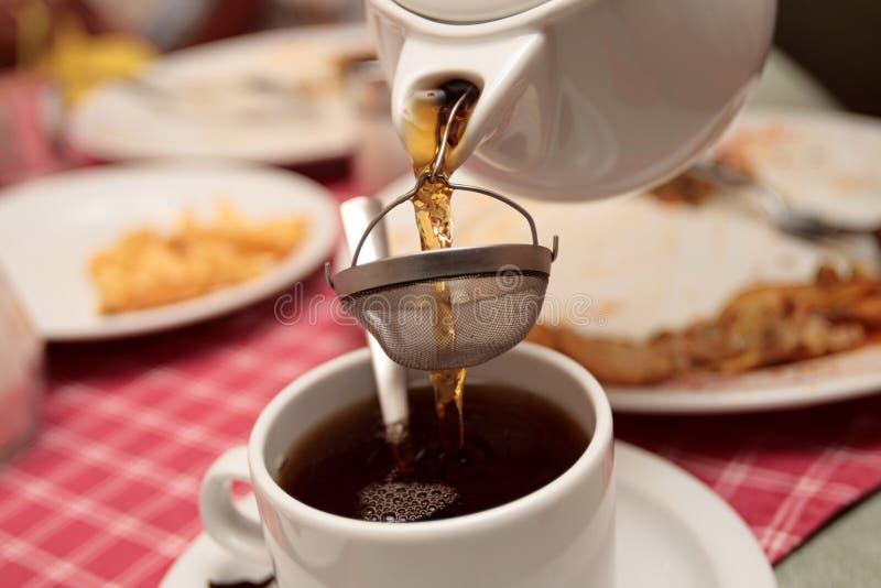 ceglana herbaty. zdjęcia stock