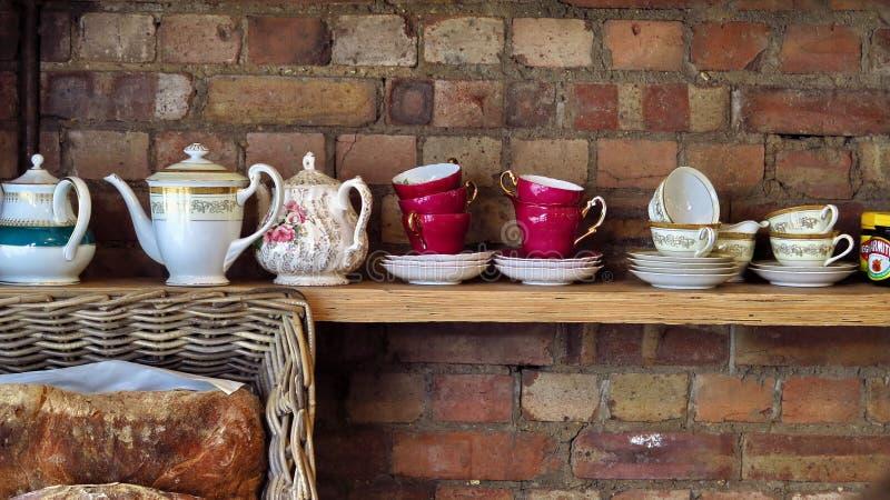 Ceglana Londyńska herbata zdjęcie royalty free