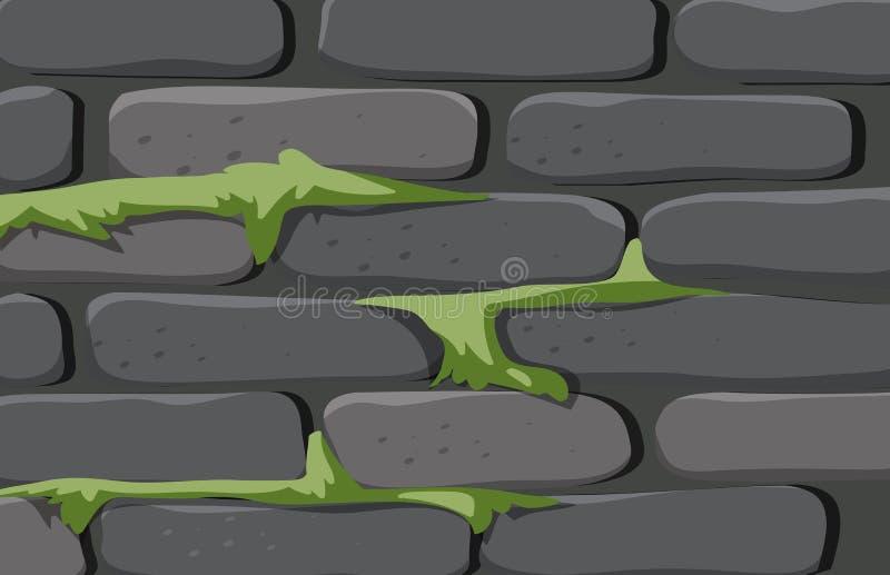 ceglanego domu tekstury ściana ilustracja wektor