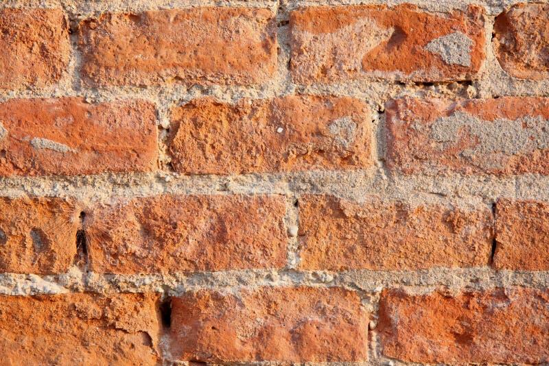 ceglanej czerwieni ściana zdjęcie royalty free