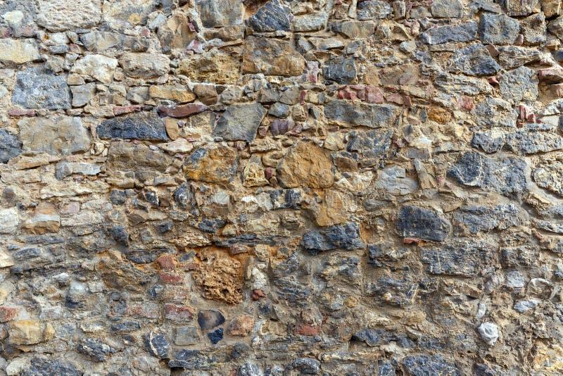 Ceglanej i kamiennej ściany szczegół obraz royalty free