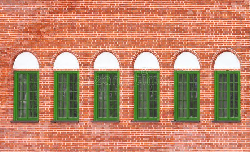 ceglani starzy ścienni okno obraz stock