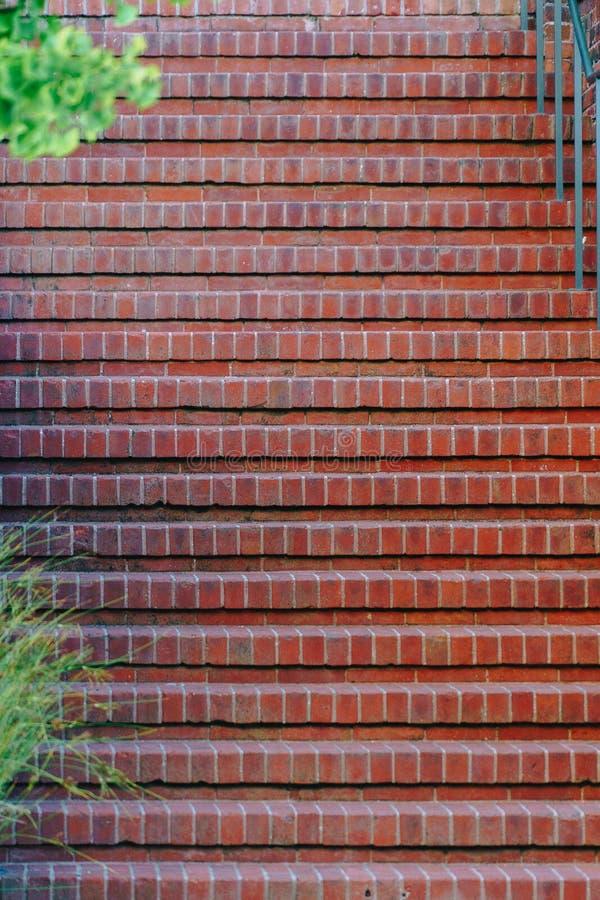 Ceglany brown schodka szczegółu materiał obraz stock