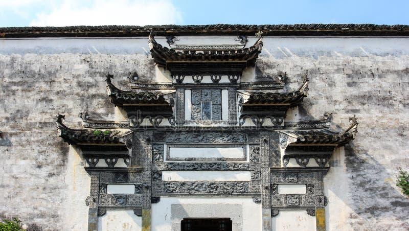 Ceglany cyzelowanie opisywany Huizhou zdjęcia stock