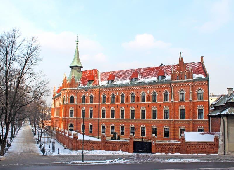 ceglany dom Krakow stary zdjęcia stock