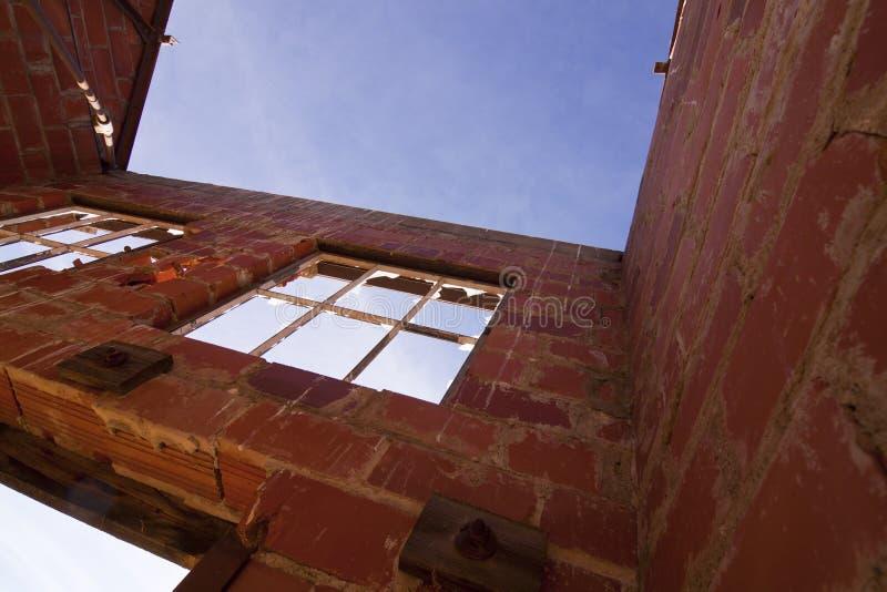 ceglany dom ruiny zdjęcia royalty free