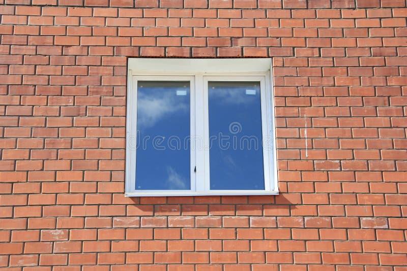 ceglany domowy nowy okno obraz royalty free