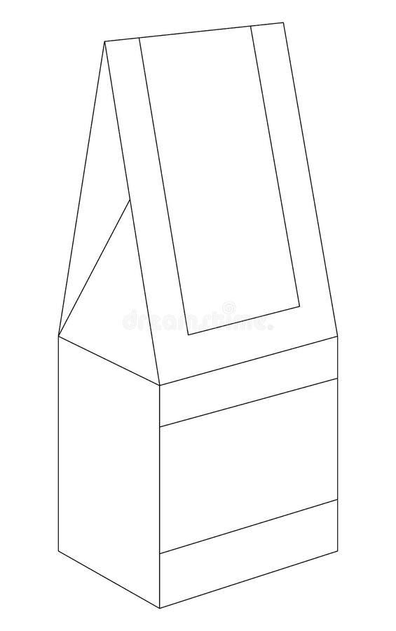 Ceglany karton ilustracja wektor