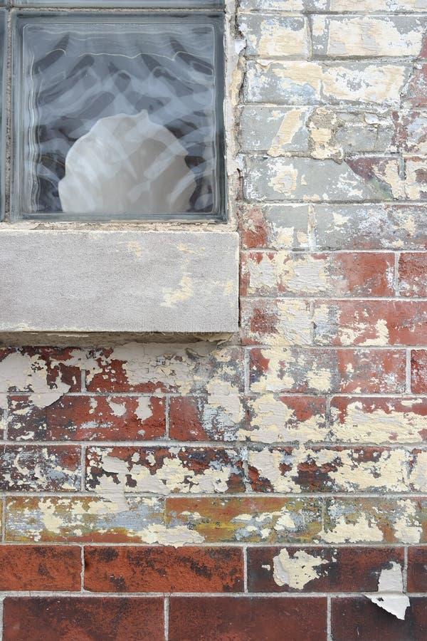 Ceglany okno obraz stock