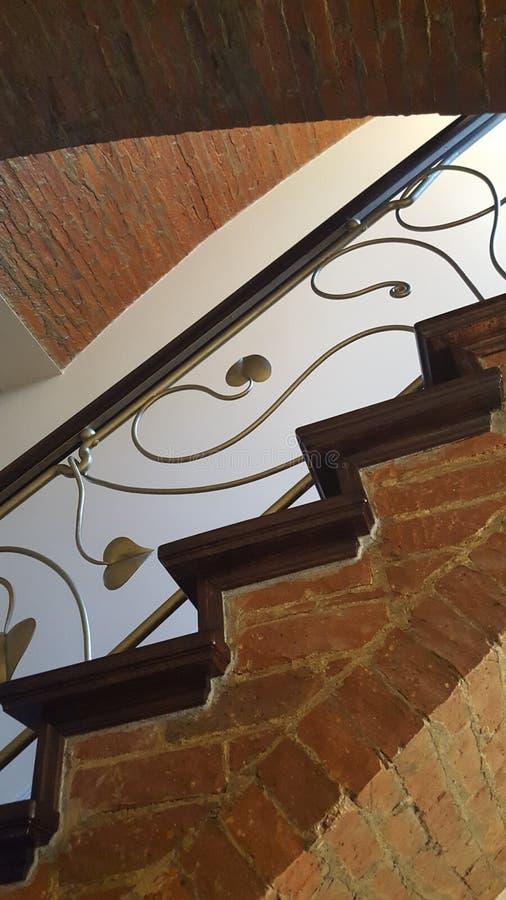 Ceglany schody zdjęcia stock