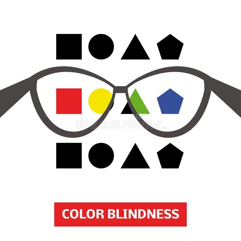 Cegueira de cor ilustração stock