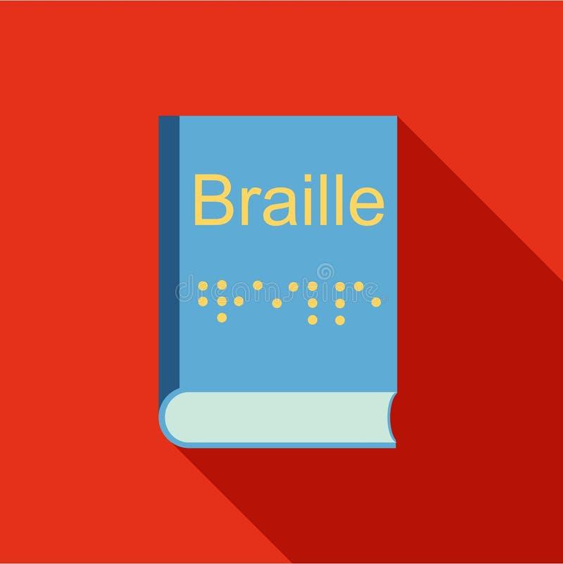 Ceguera, icono del sistema de escritura de Braille, estilo plano libre illustration