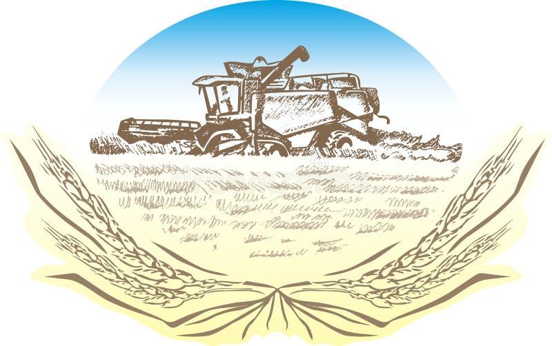 Ceifeira ilustração do vetor