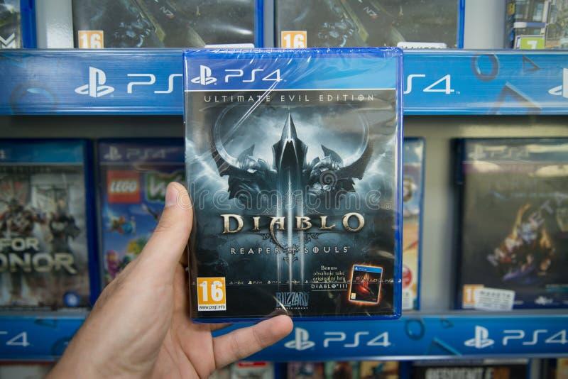 Ceifeira de Diablo 3 da edição final das almas imagens de stock