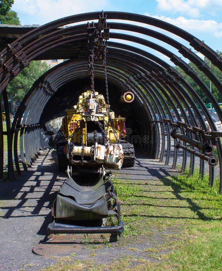 Ceifeira de perfuração da suspensão velha para o carvão de mineração imagens de stock