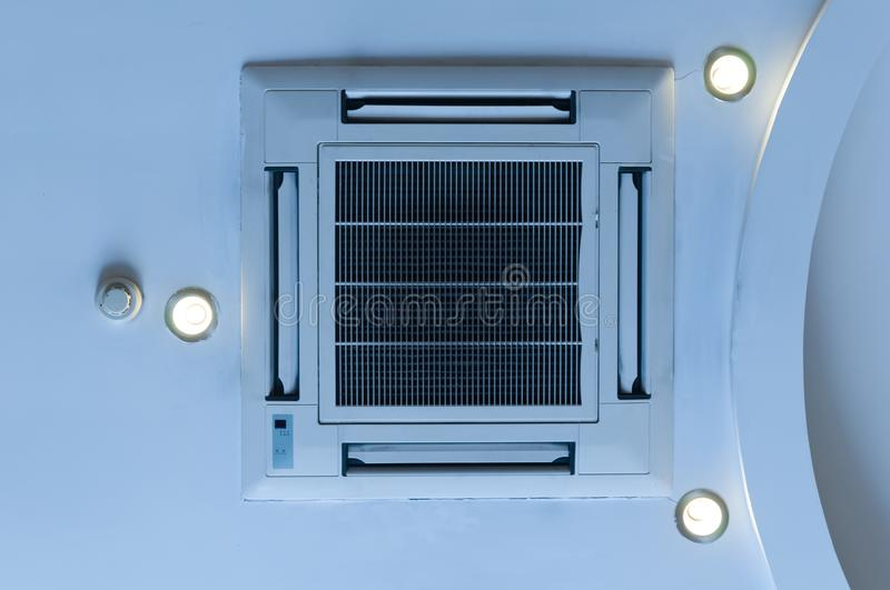 Ceiling air conditioning stock images