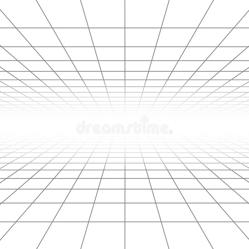 Free Ceiling And Floor Perspective Grid Vector Lines, Architecture Wireframe Royalty Free Stock Photography - 78678157