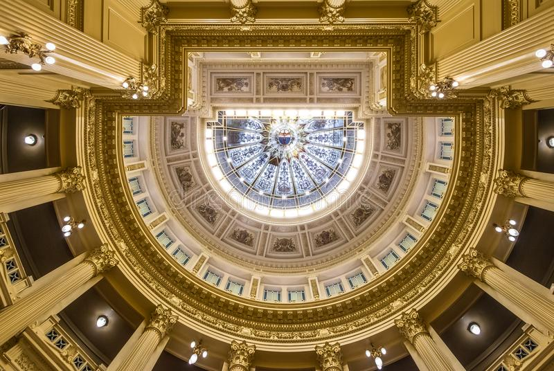 Ceiling of Argentinian Senate at National Congress of Argentina - Buenos Aires, Argentina royalty free stock image