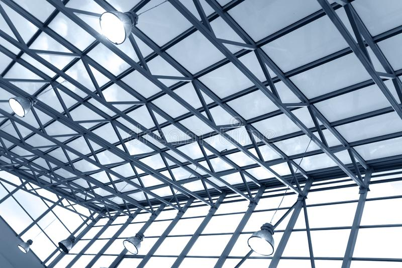 Ceiling in business center royalty free stock photos