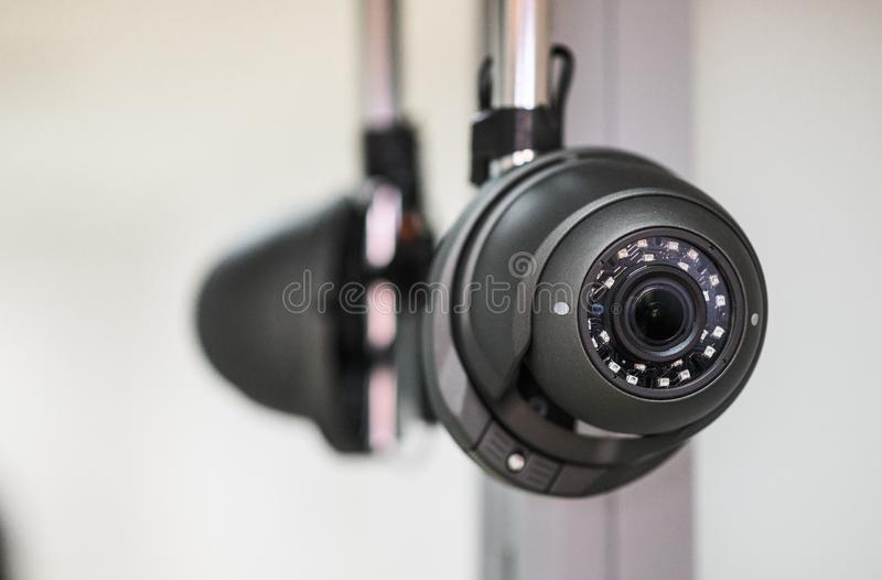 Ceiling camera, security camera. Ceiling camera, CCTV Security Camera. Alarm system home royalty free stock photos