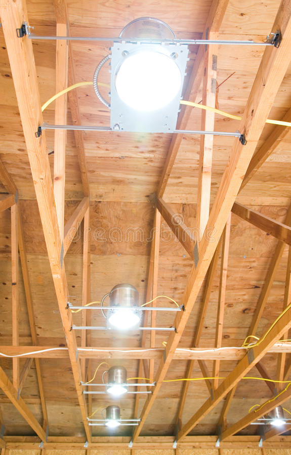 Download Ceiling Can Lighting stock image. Image of wood, fixture - 11122229