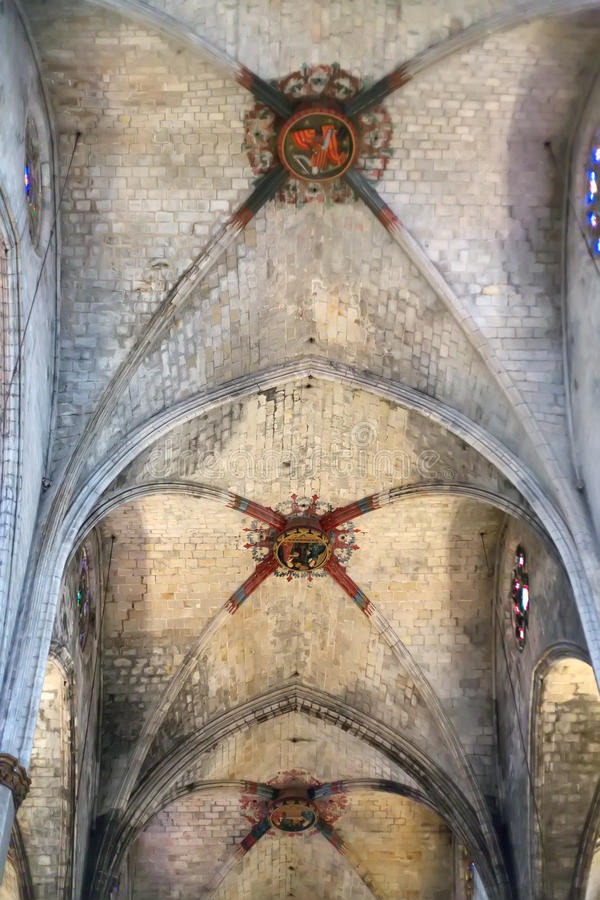 Ceiling of the Catholic Church royalty free stock images