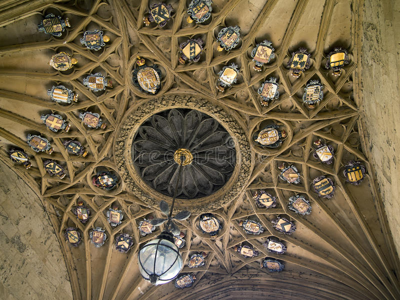 Download Ceiling Of Christ Church College Stock Image - Image: 22811069