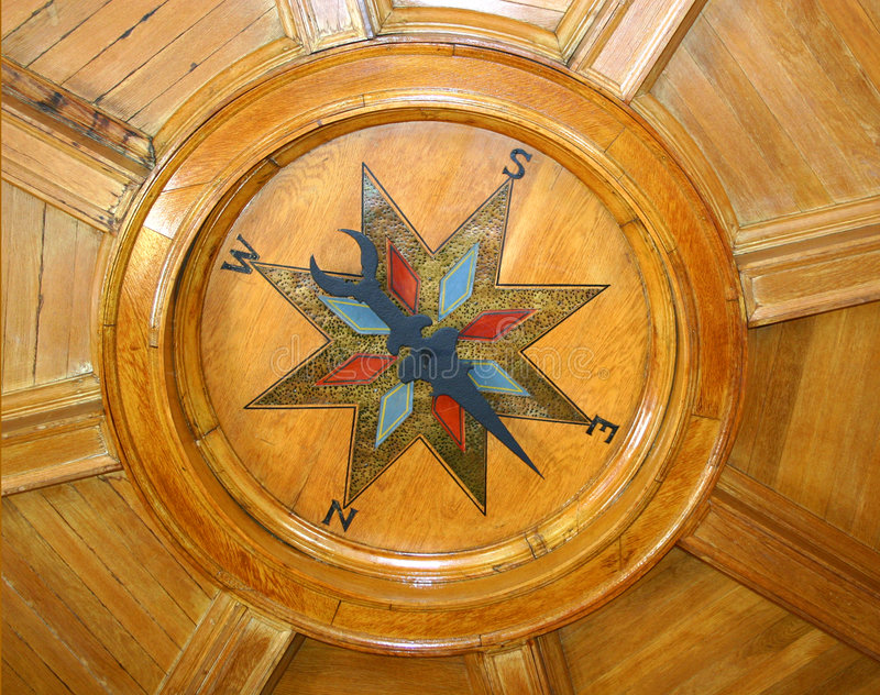 Ceiling compass stock photography