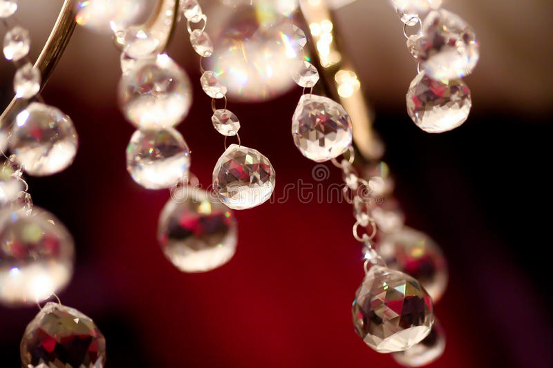 Ceiling Crystals royalty free stock image