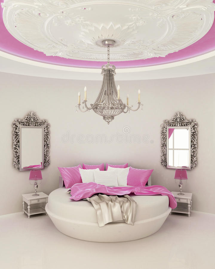 ceiling decor in modern bedroom royalty free stock images