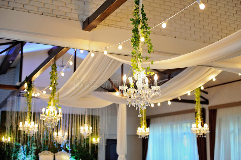 Ceiling decor with tulle and eclectic chandeliers stock photo download ceiling decor with tulle and eclectic chandeliers stock photo image of color decor aloadofball Gallery
