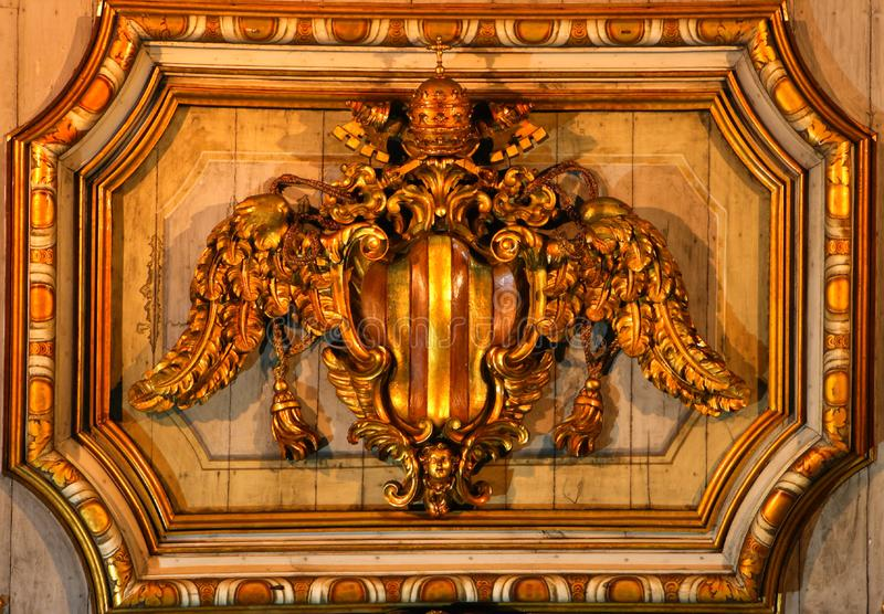 Download Ceiling Decoration In A Church In Rome Stock Photo - Image of interior, crucifixion: 5793220