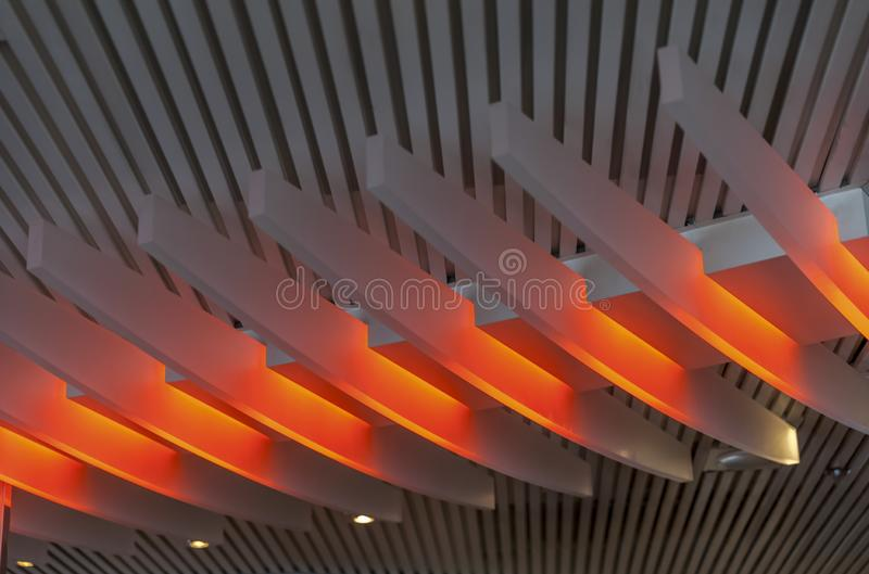 Ceiling  Decorative Architecture. Isolated royalty free stock photography