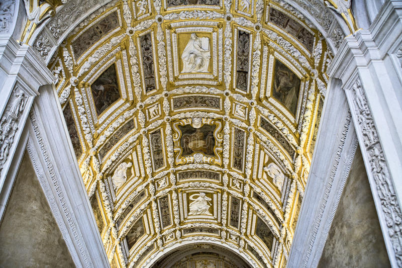 Ceiling at Doge's palace in Venice stock photos