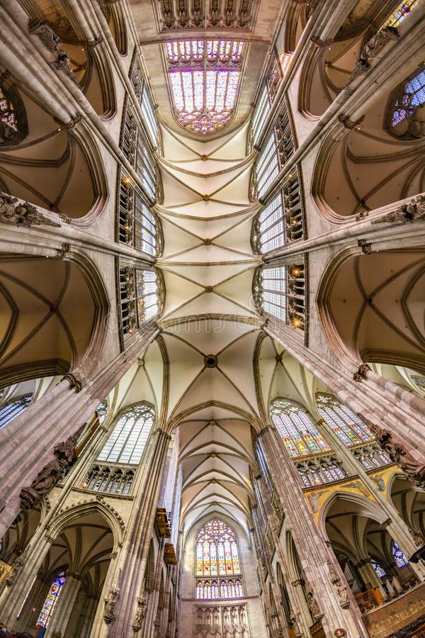 Ceiling of dome in cologne. Ceiling of famous dome in cologne royalty free stock images