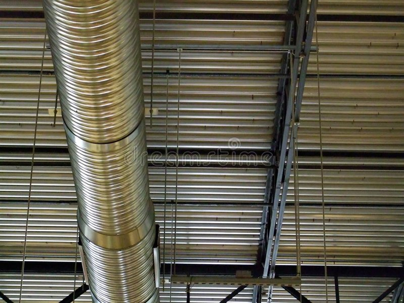Ceiling Duct royalty free stock image