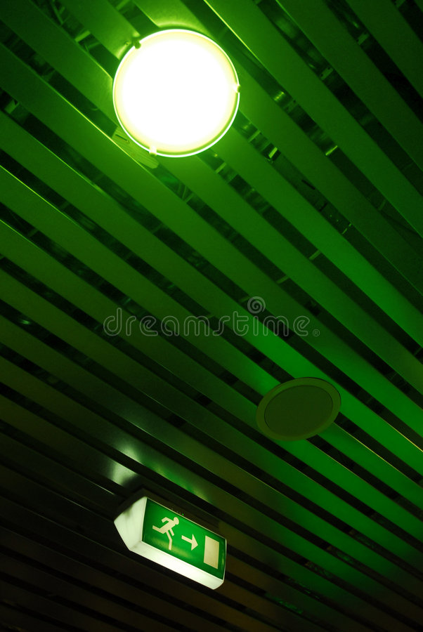 Download Ceiling and exit sign stock image. Image of emergency - 2776223