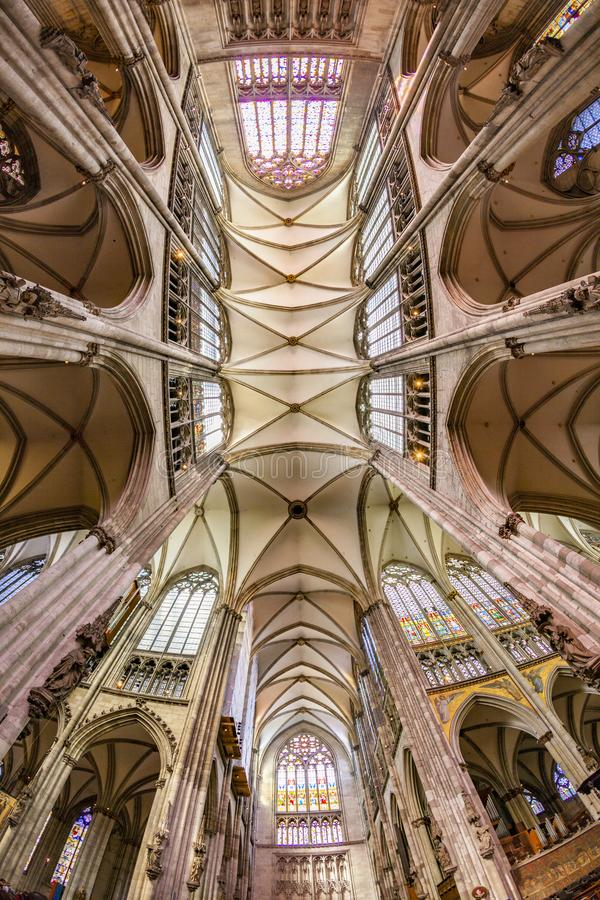 Ceiling of dome in cologne. Ceiling of famous dome in cologne royalty free stock image
