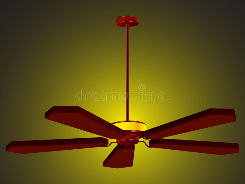 Ceiling Fan Lamp Royalty Free Stock Images