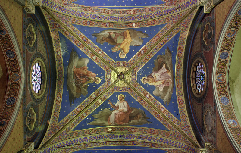 Download Ceiling Frescos Stock Photo - Image: 1857390