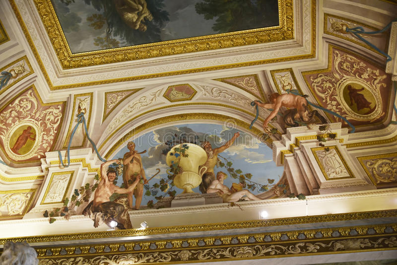 Ceiling in the Galleria Borghese Rome Italy royalty free stock photography