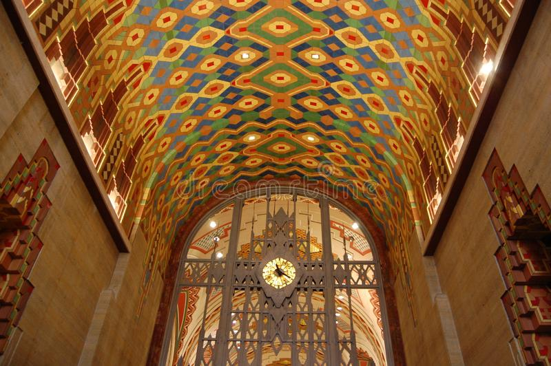Ceiling of the Guardian building, Detroit Michigan USA royalty free stock photo